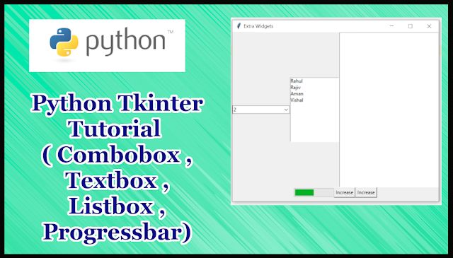 Python GUI Tkinter Tutorial Part 17.4 | Combobox,Listbox,TextBox,ProgressBar in Tkinter