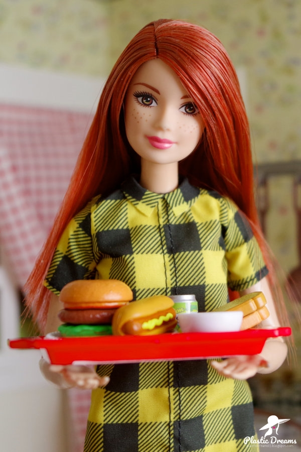 barbie with totally tiny food set