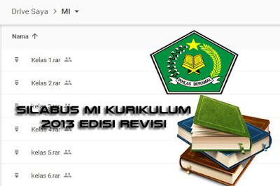 Download Revisi Silabus MI PAI dan Bahasa Arab Kurikulum 2013 Kelas 1, 2, 3, 4, 5, 6 Terbaru
