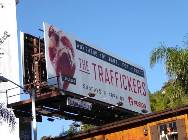 Traffickers TV series billboard
