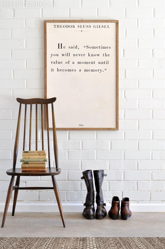 DIY book quote art printable