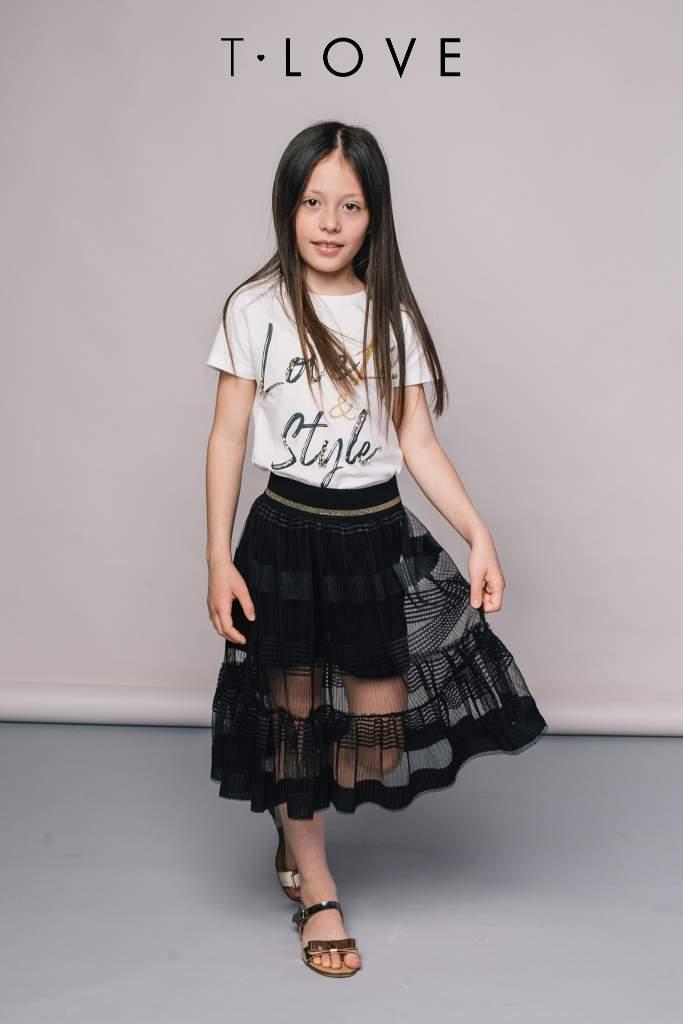 moda ragazze T-love