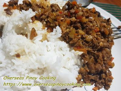 Bopis Rice