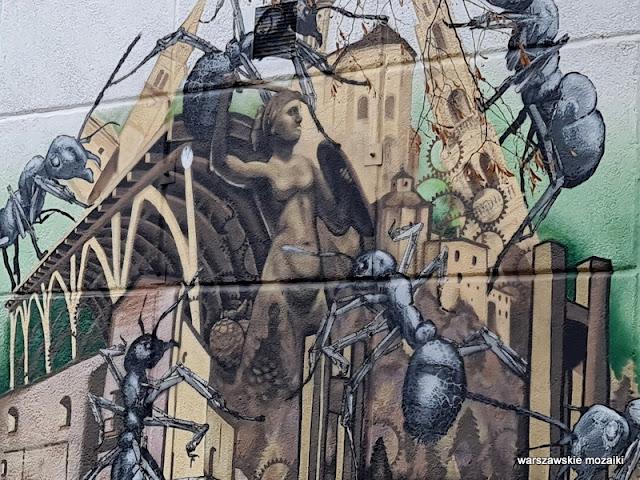 Taki Myk Warszawa Warsaw streetart Skuha Ochota szkoła gimnazjum warszawskie murale