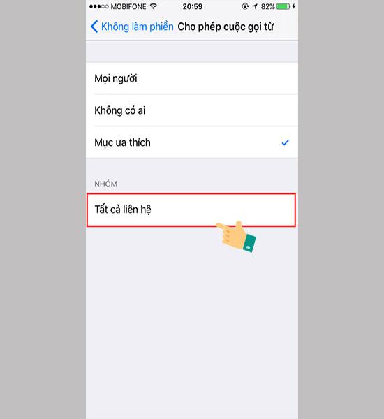 Làm sao để chặn cuộc gọi ngoài danh bạ cho iPhone 8
