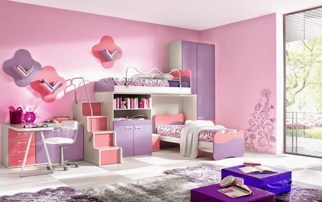 chambre-fille-rose