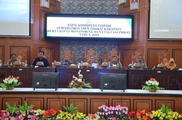 Asisten I Pimpin Rakor Terpadu Pemerintahan Umum