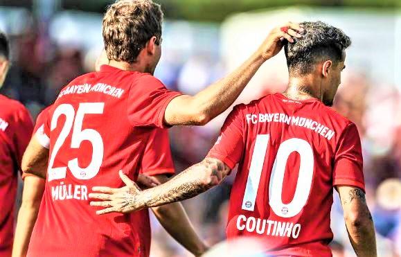 FC Bayern against Mainz 05