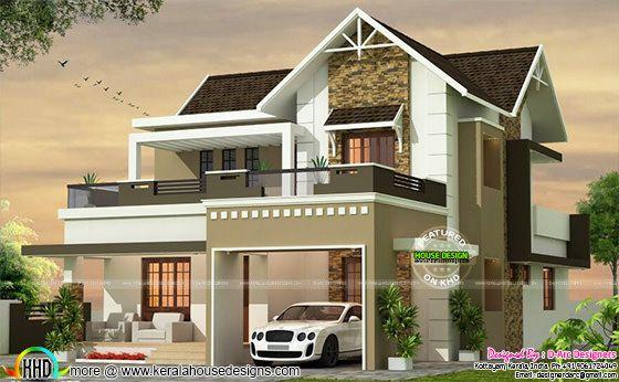 3 BHK cute modern villa