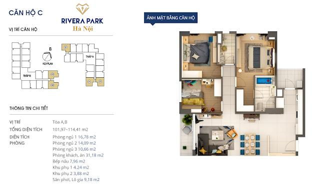 Chi tiết căn hộ C Rivera Park