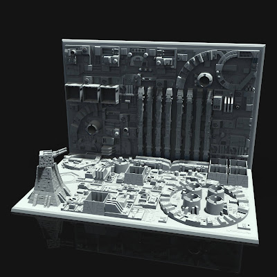 Death Star Starwars Diorama 3d print - Full Diorama Render