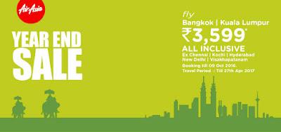 Book Flights - Bangkok, Kuala Lumpur at Rs. 3599/- only all inclusive, booking till 9oct at riya.travel