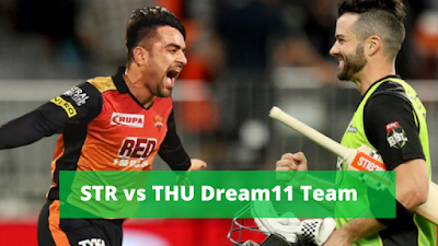 BBL 2019-20 STR vs THU Knockout T20I Match