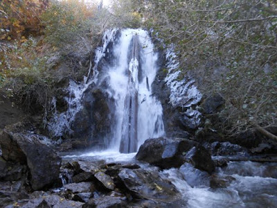 icy, waterfall, ice, river, nature, spiritual nature