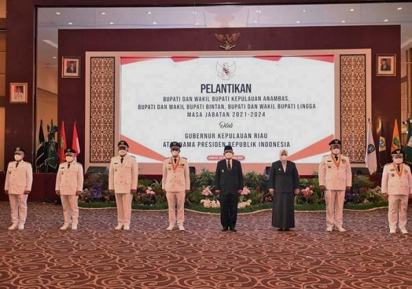 Gubernur Kepri Lantik Bupati Anambas, Bintan dan Lingga
