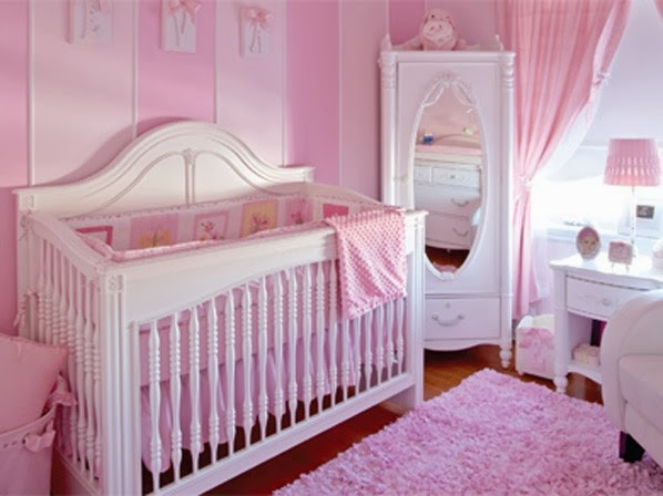 decoración dormitorio bebé rosa