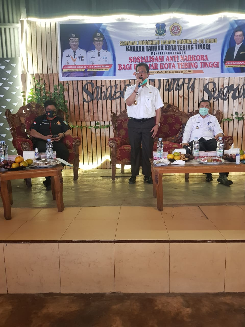Buka Sosialisasi Anti Narkoba,Wakil Walikota Tebing Tenggi Apresiasi Karang Taruna