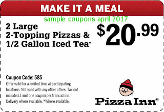 Pizza Inn coupons april