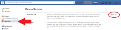 I Want To Know How To see my Restricted friends list on Facebook?   How to View Your blocked list on Facebook