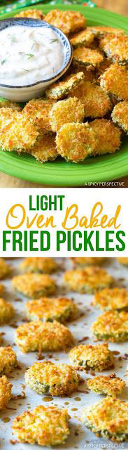 """Oven Baked """"Fried"""" Pickles with Garlic Sauce Recipes"""