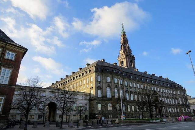 Copenhagen in winter: Christiansborg Palace