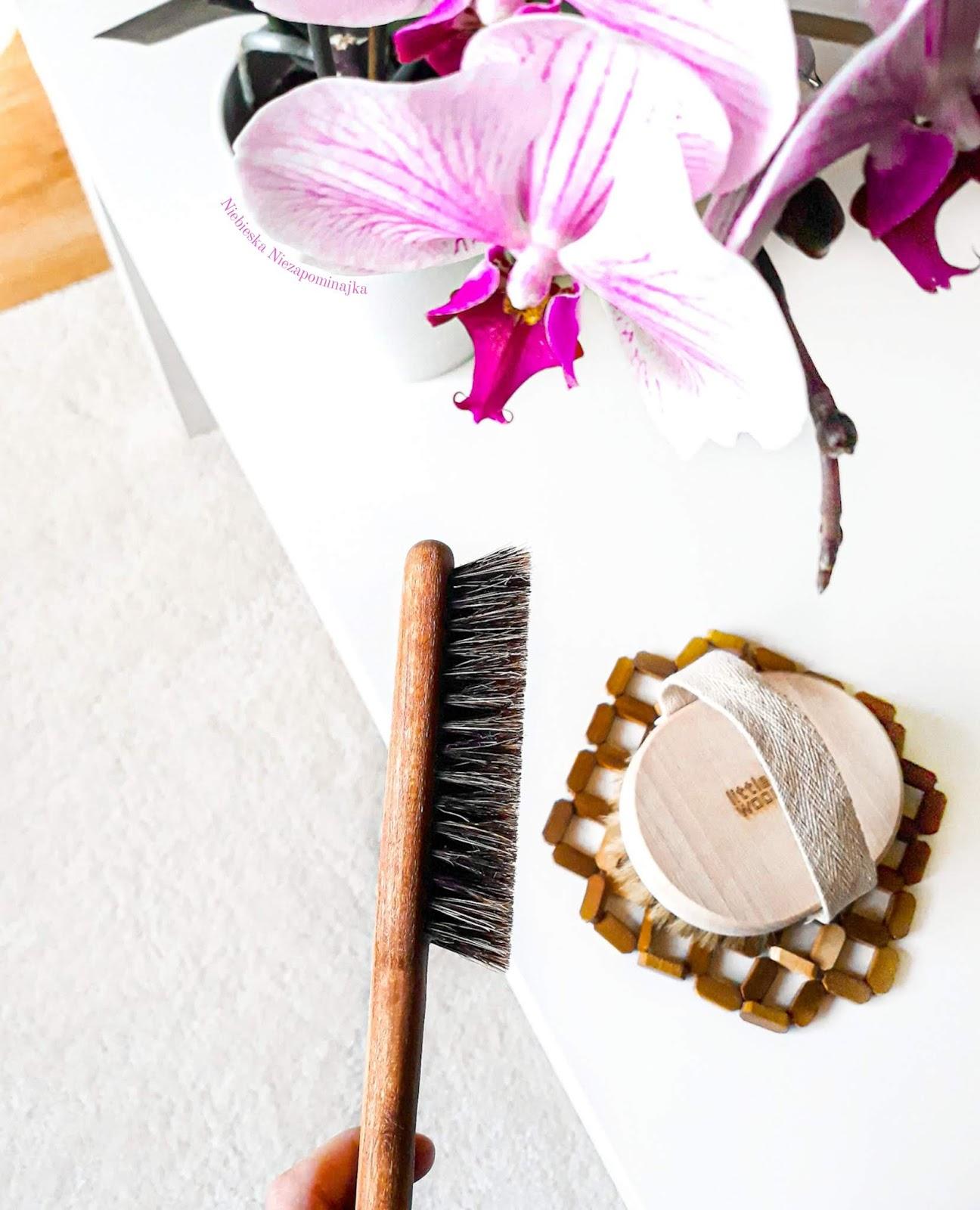 Pielęgnacja włosów i ciała - szczotki z naturalnego włosia dzika丨 Little Wood