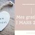 Mes gratitudes du mois de MARS 2020