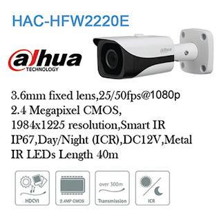 DAHUA CCTV HDCVI HAC-HFW2220E