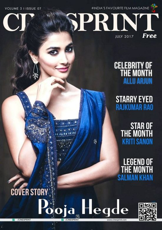 Pooja Hegde On The Cover of Cinesprint Magazine July 2017