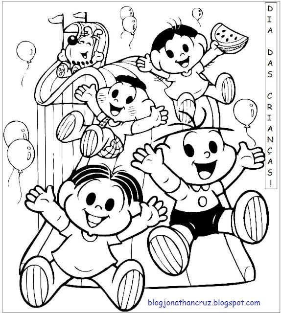 desenhos para colorir dia das crianças 1 de junho de 2013