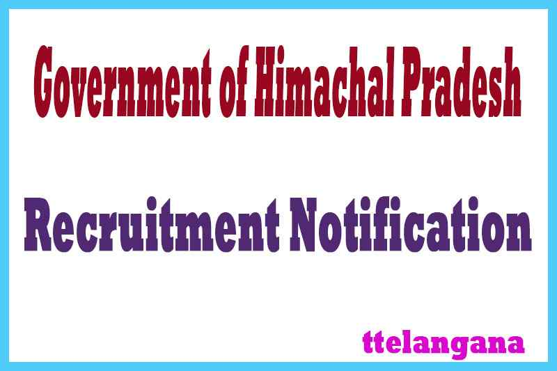 Government of Himachal Pradesh Recruitment Notification