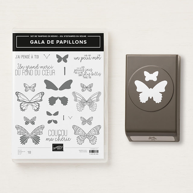 Butterfly Gala and Duet punch Stampin Up