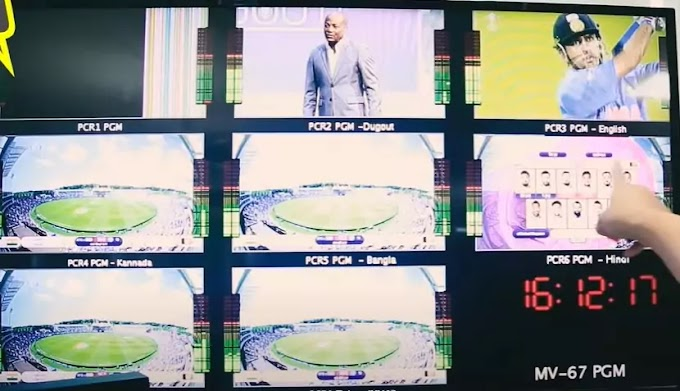 live editing broadcasts Graphics behind scenes of IPL match
