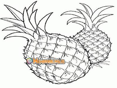 cara untuk mewarnai buah nanas