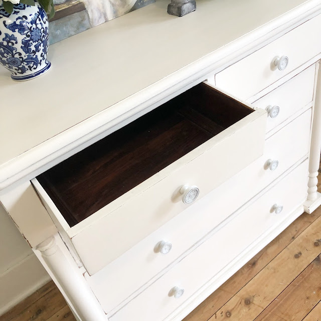 lilyfield life hand painted white drawers