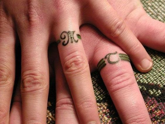 Imagenes de anillos de matrimonio tatuados
