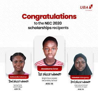 UBA National Essay Competition Winners 2020 [Photos]