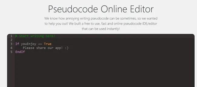 برامج تحرير الكود عبر الإنترنت لمساعدتك على كتابة التعليمات البرمجية الزائفة أثناء التنقل