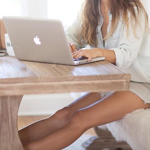 social media macbook typing