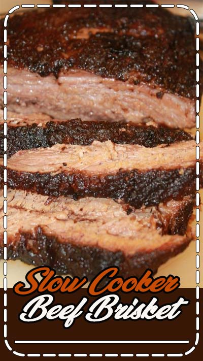 This two step slow cooker beef brisket is so rich in flavor and the crust is so flavorful. Prep it in the slow cooker first before popping it into the oven. This brisket will be moist and smokey, as if it's been in a smoker all day.