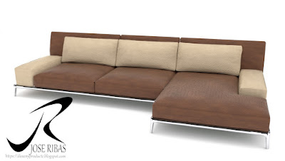 Sofa modelo DissenyProducte Marrón