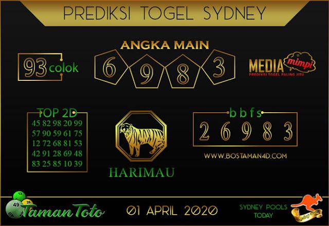 Prediksi Togel SYDNEY TAMAN TOTO 01 APRIL 2020