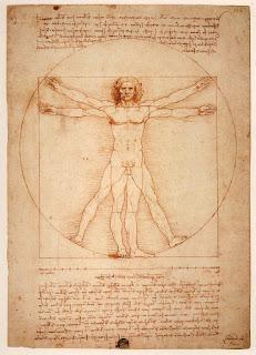 Leonardo da Vinci The Vitruvian Man Drawing 1490