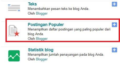Alasan Saya Tidak Memasang Widget Artikel Populer
