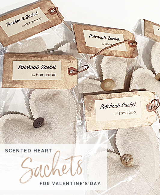packaged scented hearts with card header