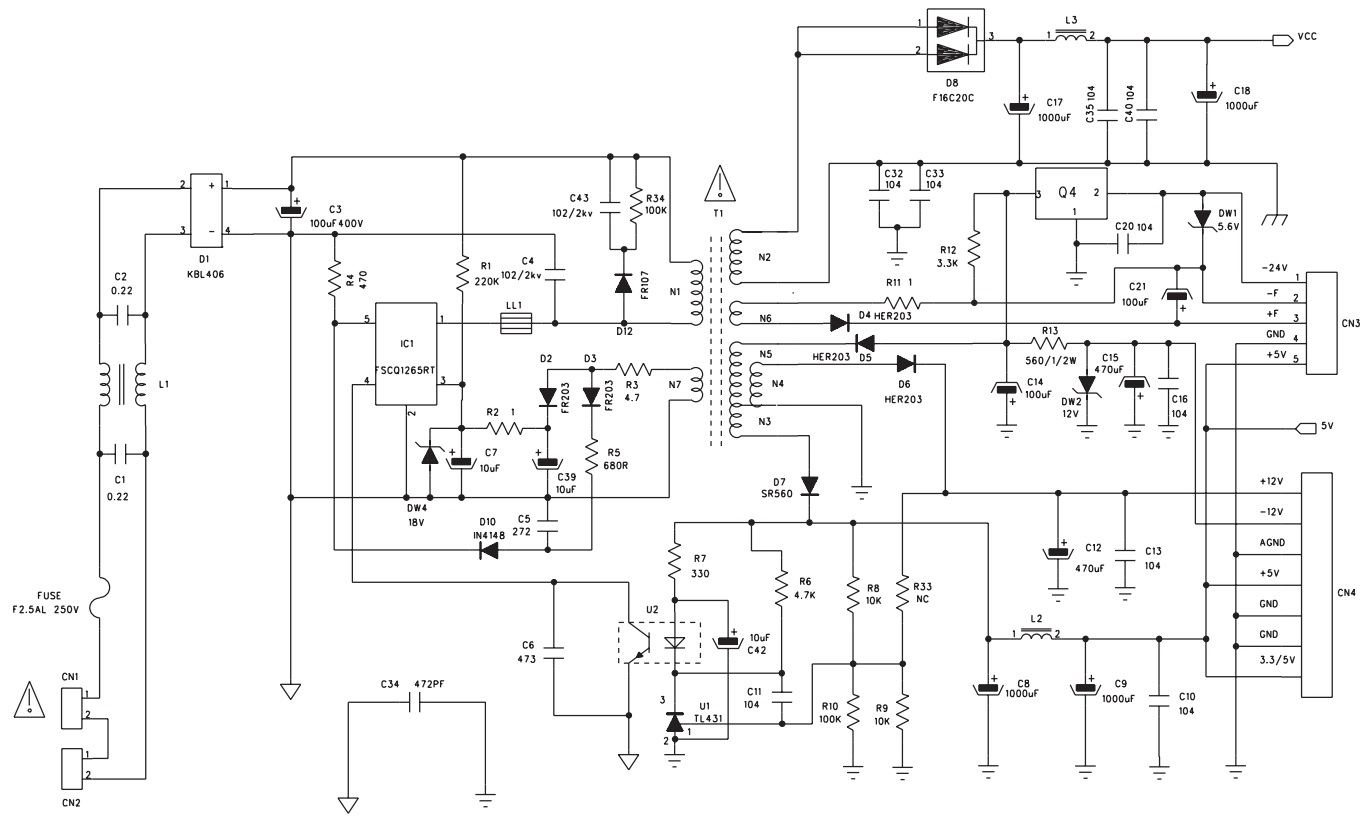 hight resolution of smps schematic