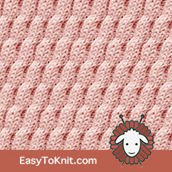 Twist Cable 29: Right Diagonal | Easy to knit #knittingstitches #knitcables