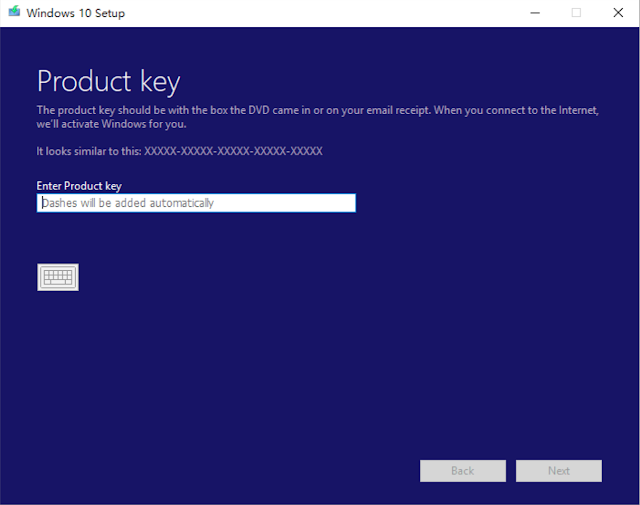 generic key windows 10