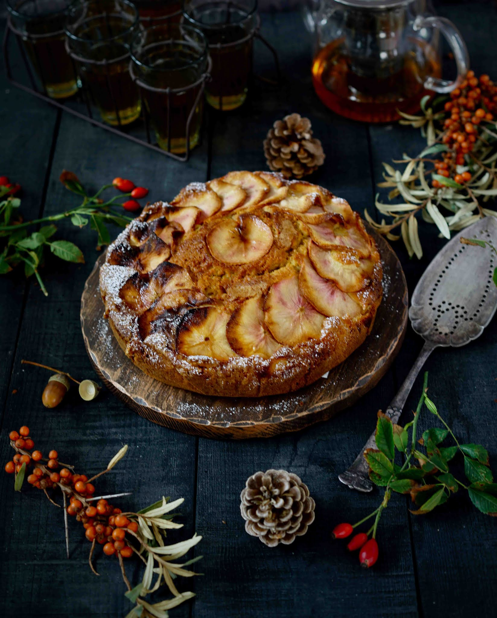 gâteaux moelleux aux pommes d'automne