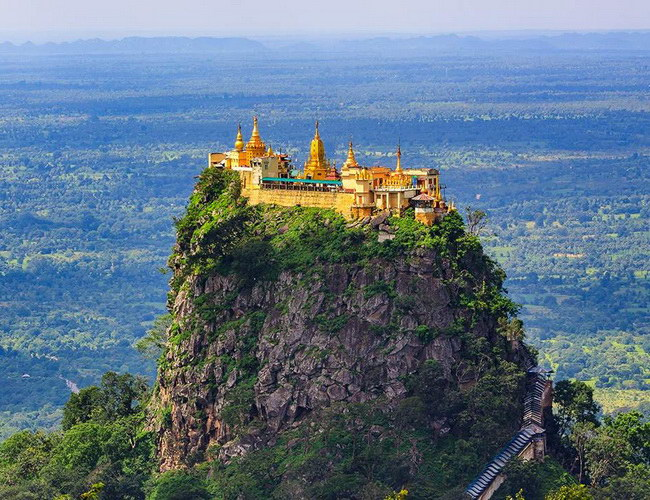 Xvlor Popa Taung Kalat Monastery in Mount Popa is Nat's home in Mandalay